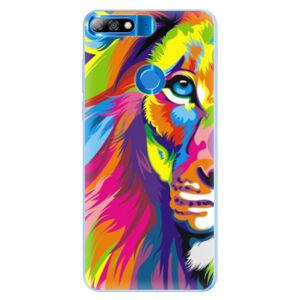 Silikonové pouzdro iSaprio - Rainbow Lion - Huawei Y7 Prime 2018