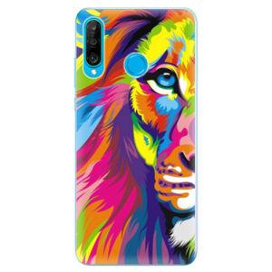 Odolné silikonové pouzdro iSaprio - Rainbow Lion - Huawei P30 Lite