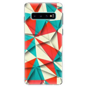 Plastové pouzdro iSaprio - Origami Triangles - Samsung Galaxy S10
