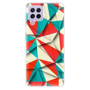 Odolné silikonové pouzdro iSaprio - Origami Triangles - Samsung Galaxy A22