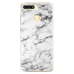 Plastové pouzdro iSaprio - White Marble 01 - Huawei Honor 7A