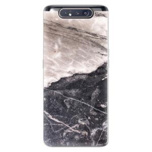 Odolné silikonové pouzdro iSaprio - BW Marble - Samsung Galaxy A80
