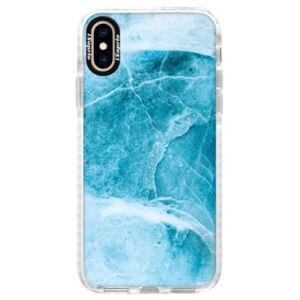 Silikonové pouzdro Bumper iSaprio - Blue Marble - iPhone XS