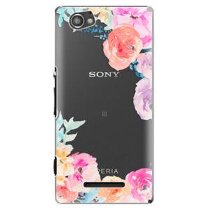 Plastové pouzdro iSaprio - Flower Brush - Sony Xperia M