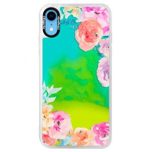 Neonové pouzdro Blue iSaprio - Flower Brush - iPhone XR