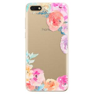 Odolné silikonové pouzdro iSaprio - Flower Brush - Huawei Honor 7S