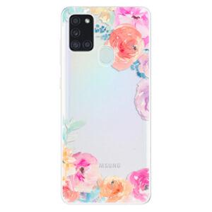 Odolné silikonové pouzdro iSaprio - Flower Brush - Samsung Galaxy A21s