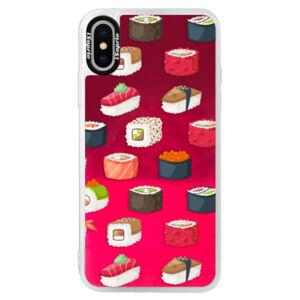 Neonové pouzdro Pink iSaprio - Sushi Pattern - iPhone X