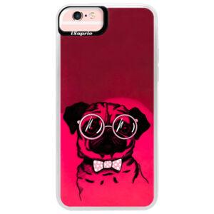 Neonové pouzdro Pink iSaprio - The Pug - iPhone 6 Plus/6S Plus