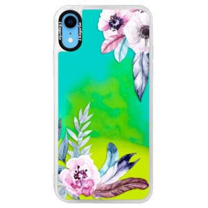 Neonové pouzdro Blue iSaprio - Flower Pattern 04 - iPhone XR