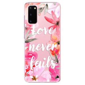 Plastové pouzdro iSaprio - Love Never Fails - Samsung Galaxy S20
