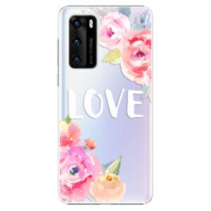 Plastové pouzdro iSaprio - Love - Huawei P40