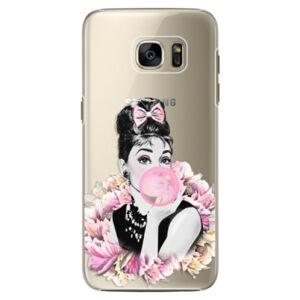Plastové pouzdro iSaprio - Pink Bubble - Samsung Galaxy S7 Edge
