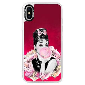 Neonové pouzdro Pink iSaprio - Pink Bubble - iPhone XS