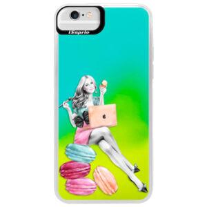 Neonové pouzdro Blue iSaprio - Girl Boss - iPhone 6 Plus/6S Plus