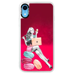 Neonové pouzdro Pink iSaprio - Girl Boss - iPhone XR