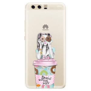 Silikonové pouzdro iSaprio - Donut Worry - Huawei P10