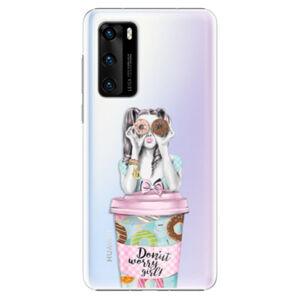 Plastové pouzdro iSaprio - Donut Worry - Huawei P40