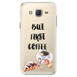 Plastové pouzdro iSaprio - First Coffee - Samsung Galaxy Core Prime