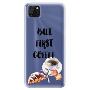Odolné silikonové pouzdro iSaprio - First Coffee - Huawei Y5p