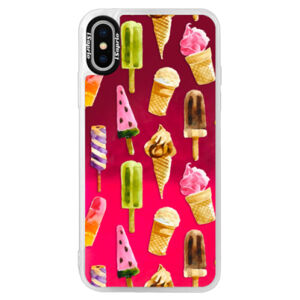 Neonové pouzdro Pink iSaprio - Ice Cream - iPhone XS