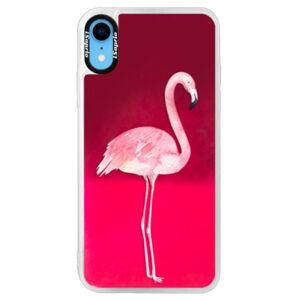 Neonové pouzdro Pink iSaprio - Flamingo 01 - iPhone XR