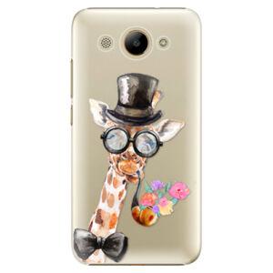 Plastové pouzdro iSaprio - Sir Giraffe - Huawei Y3 2017