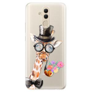 Silikonové pouzdro iSaprio - Sir Giraffe - Huawei Mate 20 Lite