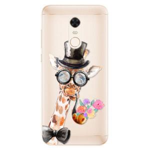 Silikonové pouzdro iSaprio - Sir Giraffe - Xiaomi Redmi 5 Plus