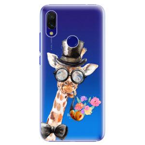Plastové pouzdro iSaprio - Sir Giraffe - Xiaomi Redmi 7