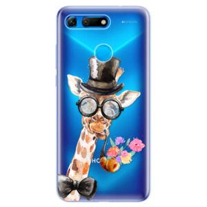 Odolné silikonové pouzdro iSaprio - Sir Giraffe - Huawei Honor View 20