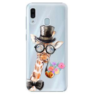 Plastové pouzdro iSaprio - Sir Giraffe - Samsung Galaxy A20