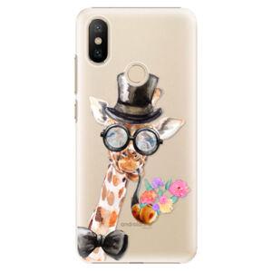 Plastové pouzdro iSaprio - Sir Giraffe - Xiaomi Mi A2