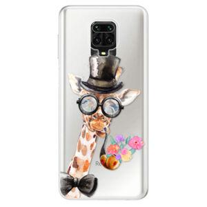 Odolné silikonové pouzdro iSaprio - Sir Giraffe - Xiaomi Redmi Note 9 Pro / Note 9S
