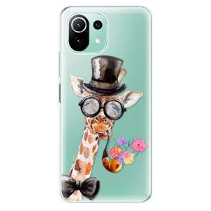 Odolné silikonové pouzdro iSaprio - Sir Giraffe - Xiaomi Mi 11 Lite