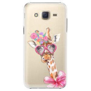 Plastové pouzdro iSaprio - Lady Giraffe - Samsung Galaxy Core Prime