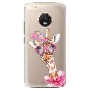 Plastové pouzdro iSaprio - Lady Giraffe - Lenovo Moto G5 Plus