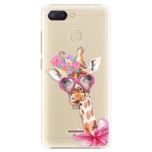 Plastové pouzdro iSaprio - Lady Giraffe - Xiaomi Redmi 6