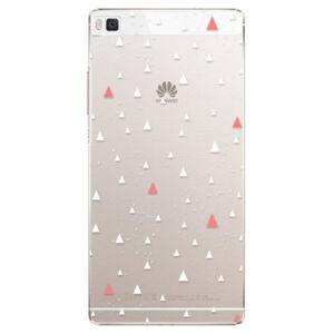 Plastové pouzdro iSaprio - Abstract Triangles 02 - white - Huawei Ascend P8