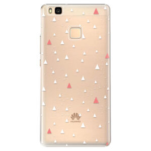 Plastové pouzdro iSaprio - Abstract Triangles 02 - white - Huawei Ascend P9 Lite