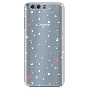 Plastové pouzdro iSaprio - Abstract Triangles 02 - white - Huawei Honor 9