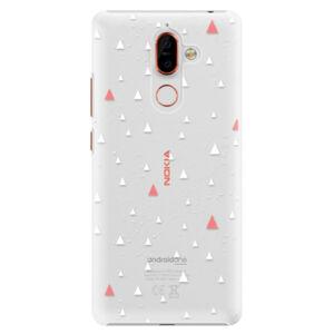 Plastové pouzdro iSaprio - Abstract Triangles 02 - white - Nokia 7 Plus