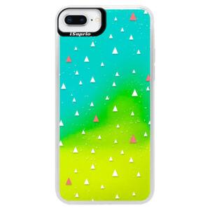 Neonové pouzdro Blue iSaprio - Abstract Triangles 02 - white - iPhone 8 Plus