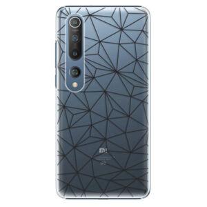 Plastové pouzdro iSaprio - Abstract Triangles 03 - black - Xiaomi Mi 10 / Mi 10 Pro