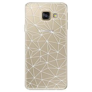 Plastové pouzdro iSaprio - Abstract Triangles 03 - white - Samsung Galaxy A3 2016