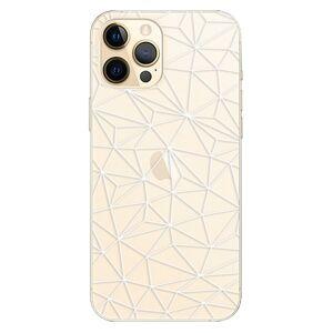 Plastové pouzdro iSaprio - Abstract Triangles 03 - white - iPhone 12 Pro Max