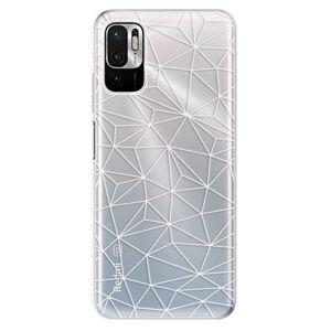 Odolné silikonové pouzdro iSaprio - Abstract Triangles 03 - white - Xiaomi Redmi Note 10 5G