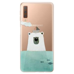 Odolné silikonové pouzdro iSaprio - Bear With Boat - Samsung Galaxy A7 (2018)