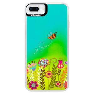 Neonové pouzdro Blue iSaprio - Bee 01 - iPhone 8 Plus