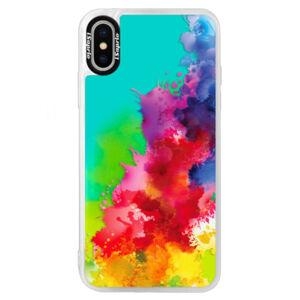 Neonové pouzdro Blue iSaprio - Color Splash 01 - iPhone X